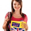Teen girl learning english language — Stock Photo #33927719