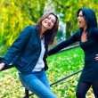 Two woman friends outside  — Stock Photo