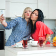 Two woman friends making selfie picture — Stock Photo #39350255