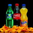 Coca cola, fanta and sprite — Stock Photo #39626327