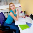Teen girl study in her room — Stock Photo #45973195