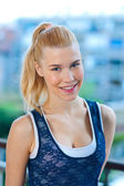 Teen girl smiling — Stock Photo