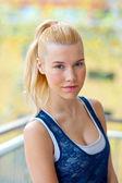 Teen girl outside — Stock Photo