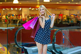 Attractive woman with shopping bags — Stock Photo