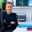 Attractive business woman in office cubicle — Stock Photo #48902041