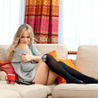 Attractive blond woman relaxing — Stock Photo #51392983