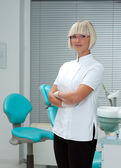 Woman doctor gynecologist or oncologis — Stock Photo