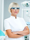Woman doctor gynecologist or oncologist — Stock Photo