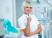 Woman doctor dentist gynecologist or oncologis — Stock Photo