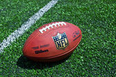 Nfl football on the field — Stock Photo