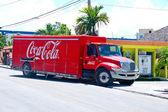 Coca cola delivery truck — Stock Photo