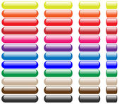 Blank web buttons set — Stock Vector