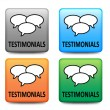 Testimonials buttons — Stock Vector