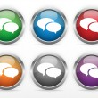 Royalty-Free Stock Vector Image: Chat web buttons