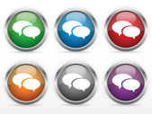 Chat web buttons — Stock Vector