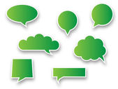 Green speech bubbles — Stock Vector