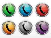 Contact buttons — Stock Vector