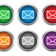 Stock Vector: E-mail web buttons