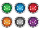 E-mail web buttons — Stock Vector