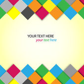 Abstract colorful blocks with place for text — Cтоковый вектор