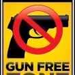 Gun Free Zone Sign — Stock Vector