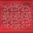 Red Paisley Handkerchief - Stock Vector
