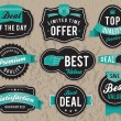 Retro business labels and badges - Imagens vectoriais em stock