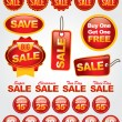 Vector Set of Sale and Promotion Labels and Badges - Stok Vektör