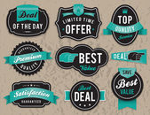 Retro business labels and badges — Stock Vector