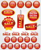Vector Set of Sale and Promotion Labels and Badges — Stock Vector