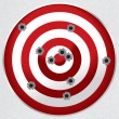 Shooting Range Gun Target with Bullet Holes - Vettoriali Stock