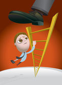 Challenges of Climbing the Corporate Ladder — Stock Vector