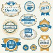 Stock Vector: Retro aged business labels and badges