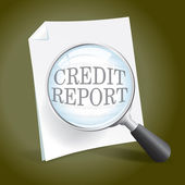 Examining a Credit Report — Stock Vector