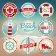 Stock Vector: Vintage Beach Labels and Badges