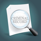 Reviewing a Criminal Record — Stock Vector
