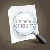 Taking a Closer Look at Childhood Obesity — Stock Vector