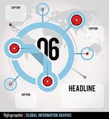 Infografica globale — Vettoriale Stock