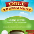 Golf Tournament Invitation Design — Stock Vector
