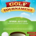 Golf Tournament Invitation Design — Stock Vector #28182117