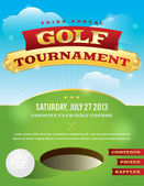 Golf Tournament Invitation Design — Vettoriale Stock