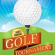 Golf Tournament Design — Stock Vector