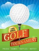 Golf Tournament Design — Stock Vector