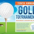 Golf Tournament Invitation Design — Vettoriali Stock