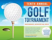 Golf Tournament Invitation Design — Stock Vector