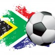 Stock Vector: South Africa Soccer Grunge Design