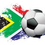 South Africa Soccer Grunge Design — Stock Vector