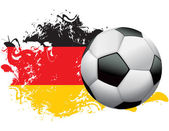 Germany Soccer Grunge Design — Stock Vector