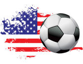 United States Soccer Grunge Design — Stock Vector