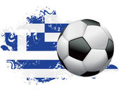 Greece Soccer Grunge Design — Stock Vector